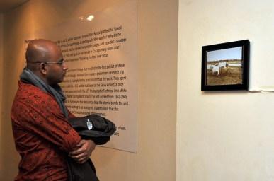 Amit at the exhibit