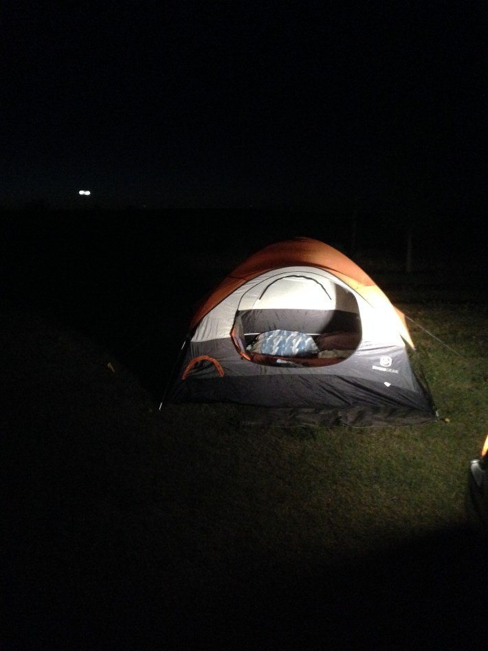 July 2016 SD campsite at night