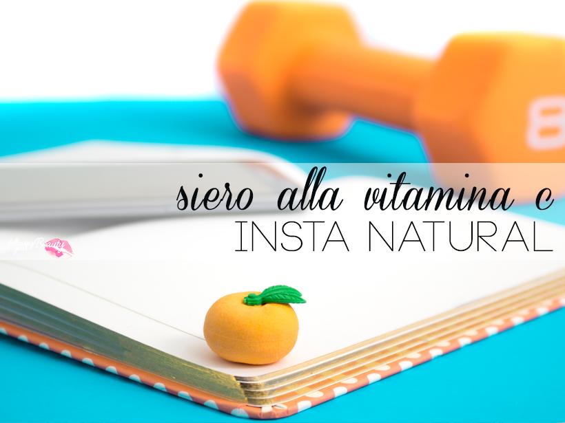 """Siero alla Vitamina C per il viso """"insta natural"""""""