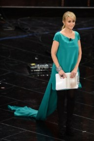 Littizzetto Sanremo 2013 abito verde