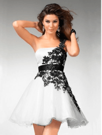 victoria-dress-black-white-short-prom-dress