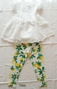 outfit leggings lemon&top frou-frou