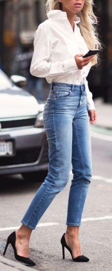 camicia-bianca-outfit-white-shirt-jeans-vita-alta