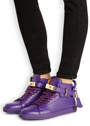 Buscemi-purple-grained-leather-hi-top-trainers-fit-550