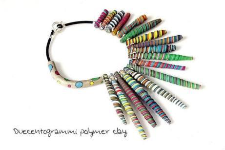 duecentogrammi-gioielli-pasta-polimerica-dettaglio-collana-multicolore-nuova-7
