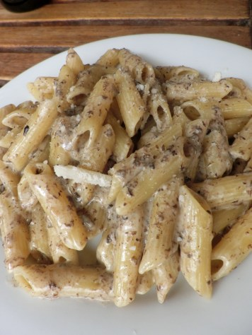 black truffle cream sauce penne Marche des Enfants Rouges