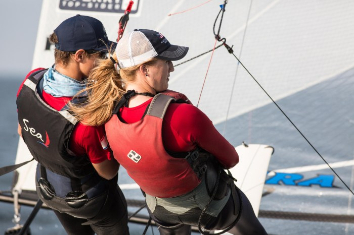 Hein and Claflin training for World Cup regattas