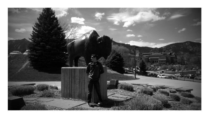 David and Buff at CU Boulder