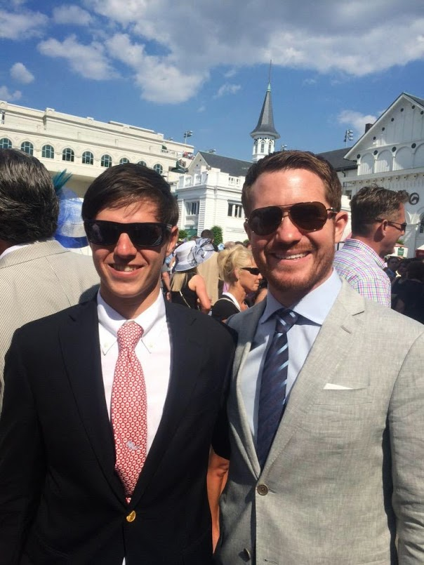 Brian Vickers and David Hein at Kentucky Derby