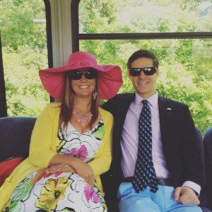 Arielle and David heading to Kentucky Oaks 2016 in Louisville