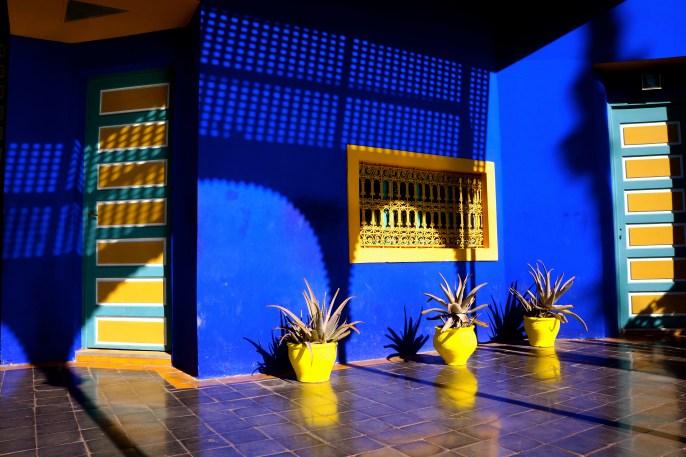 Blue house in Jardin Majorelle