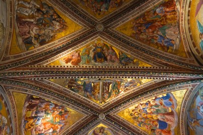 Ceiling of the duomo painted by Signorelli
