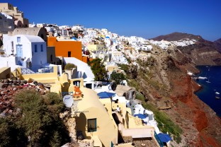 Houses on the cliffs in Oia