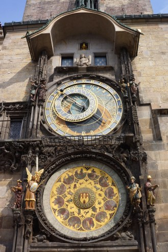 Astronomical Clock - the top does the astronomical phase and the bottom tells the month