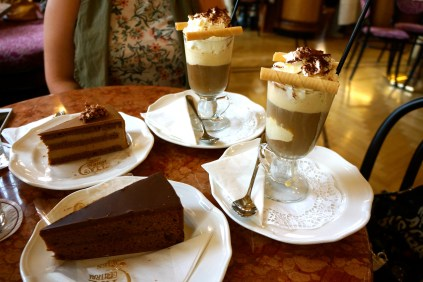 Our delicious afternoon dessert at Cafe Central