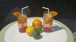 sparkly low calorie non alcoholic sangria FB