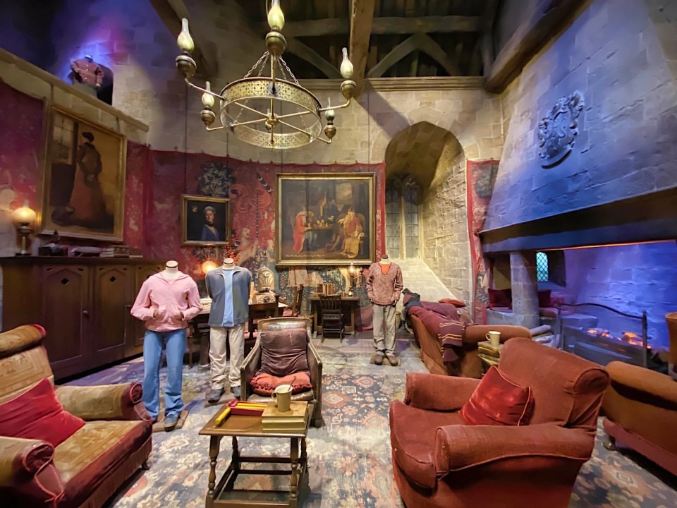 Harry Potter Studio Tour - Gryffindor Common Room
