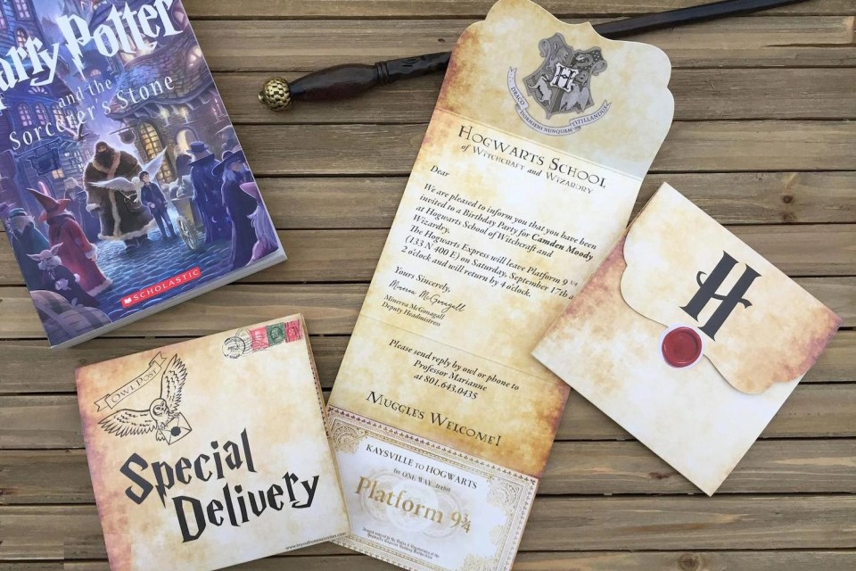 Harry Potter 11th Birthday Party - Invites