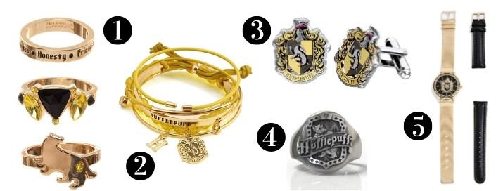 Hufflepuff Gift Guide - Jewelry