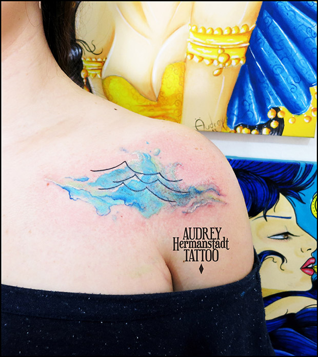 tattoo aquarela Audrey Hermanstadt onda