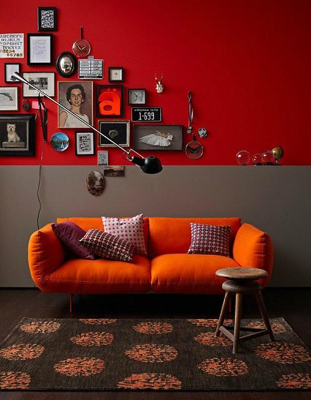vermelho decoração ambiente escuro