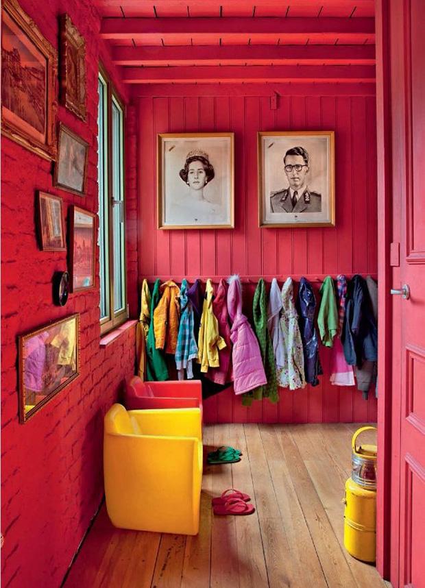 vermelho decoração casa fria