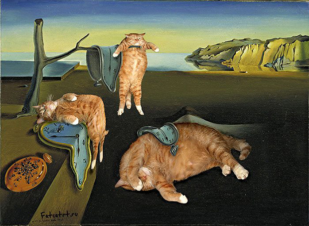 Fat Cat Art gato arte Salvador Dali
