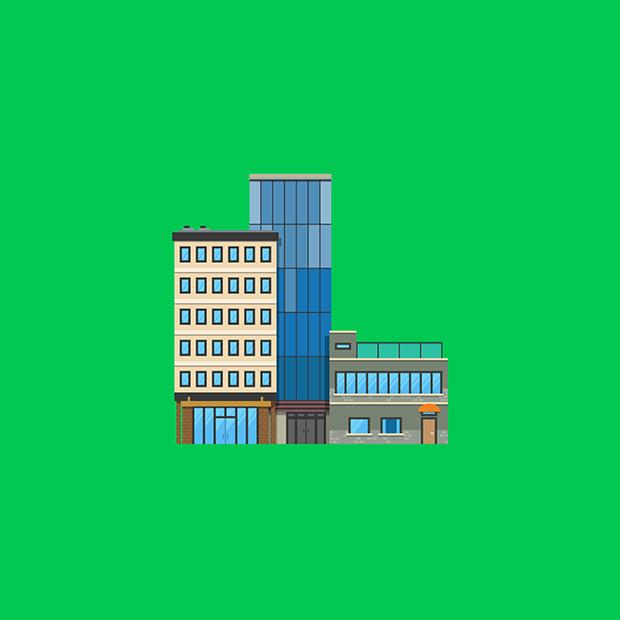 Marmota vs Milky ilustração prédios