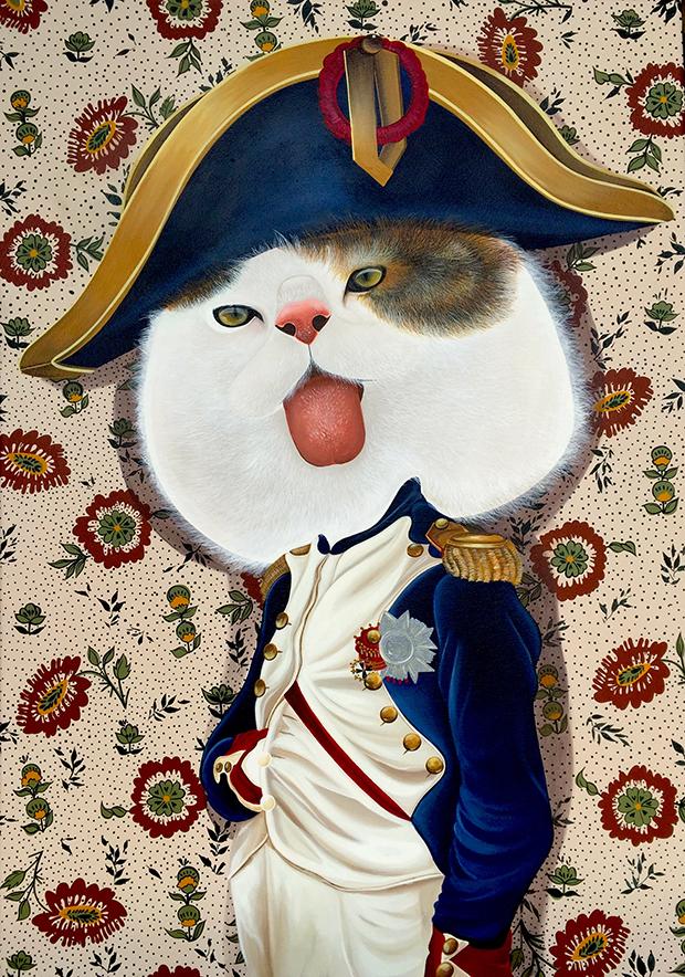 exposição Saramello França Ils sont partout pinturas gatos Napoleão