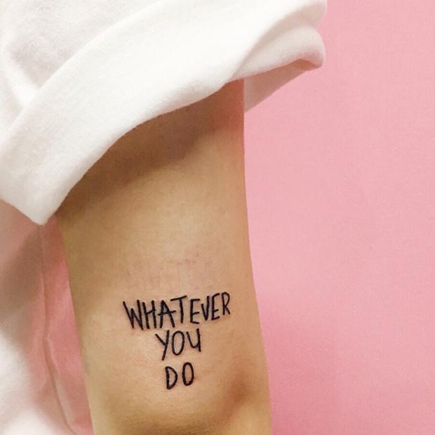 Kim Michey tatuagem tattoo whatever you do