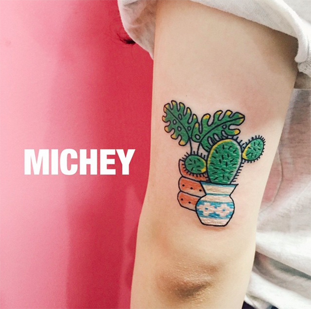 Kim Michey tatuagem tattoo cacto