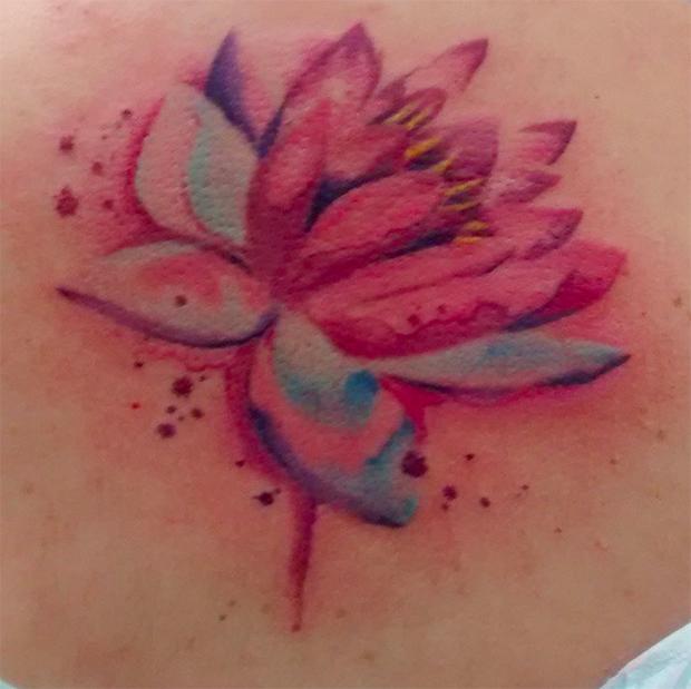 tattoo aquarela watercolor jorge Mitsunaga flor lótus