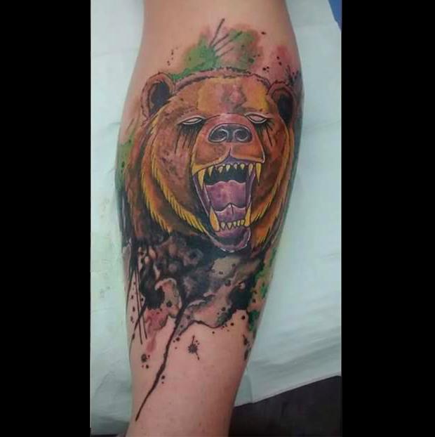 tattoo aquarela watercolor jorge Mitsunaga urso