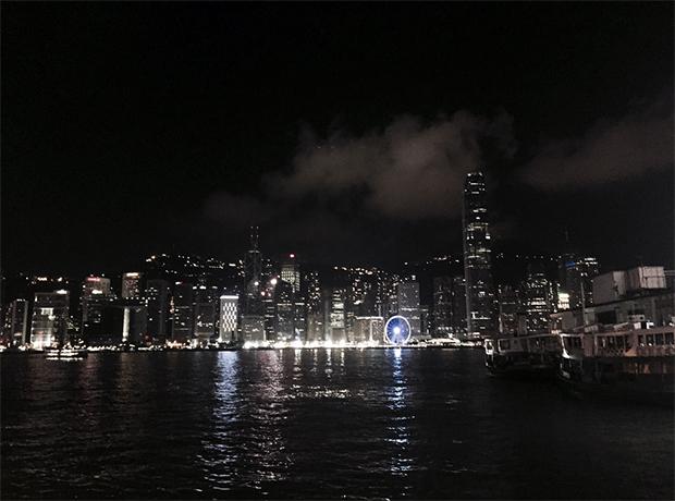 Hong Kong viagem noite