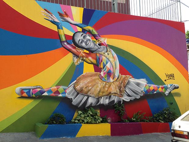 visita comunidade Paraisópolis convite LG Ballet Kobra