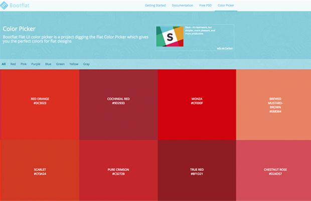 aplicativo cores bootflat