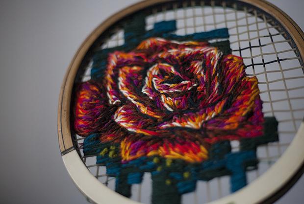 bordados raquete Danielle Clough