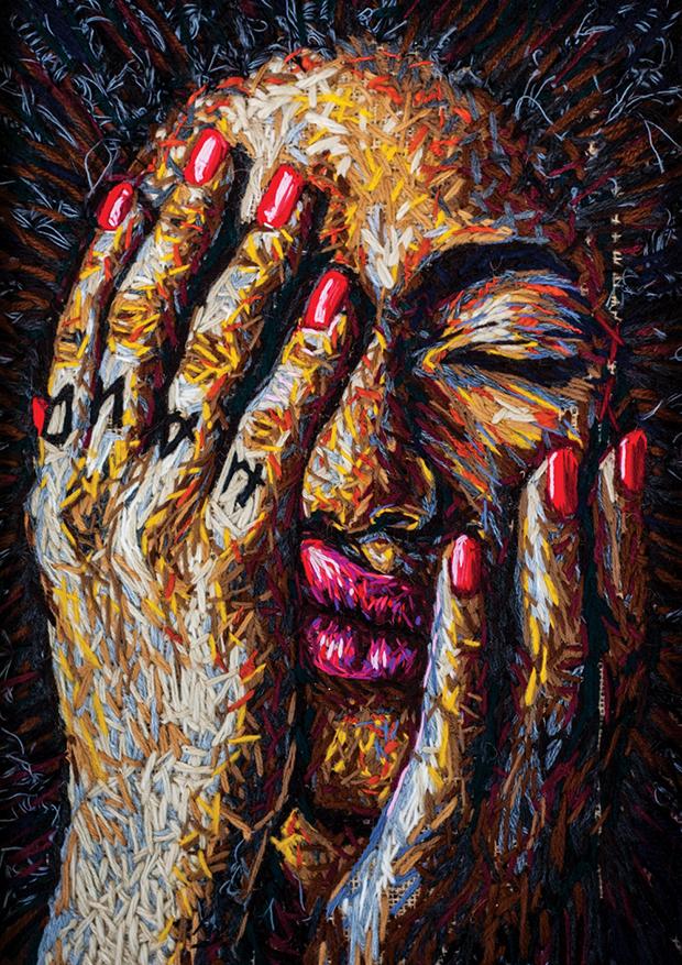 bordados retratos Danielle Clough