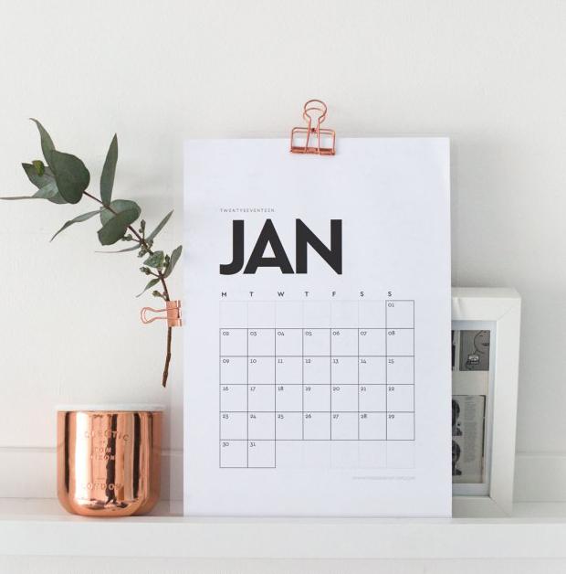 11 Calendarios 2017 Para Baixar Imprimir Gratis E Se Organizar