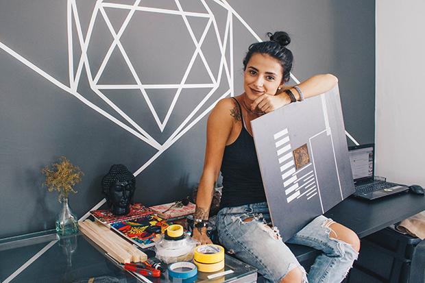 Marina Rodrigues Tape Art fitas adesivas