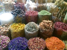 The mind-boggling array of spices, aromatics and condiments at Dubai's Spice Souk!