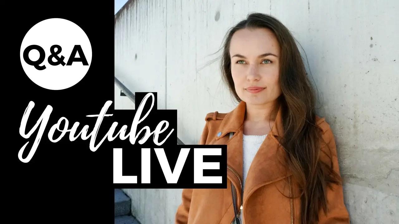 youtube live Q&A