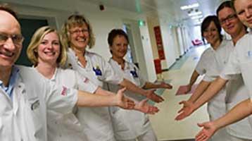 """På Glostrup Hospital er du """"ventet og velkommen"""""""