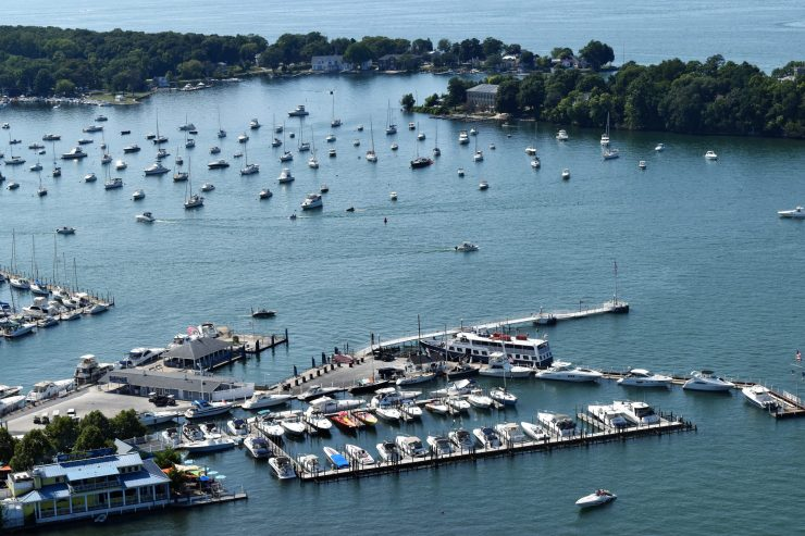 View of Put-in-Bay, Ohio from the Victory Tower
