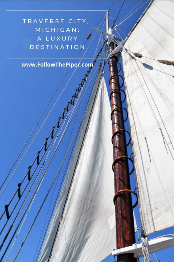 Sails on a windjammer cruise or tall ship in Traverse City, Michigan