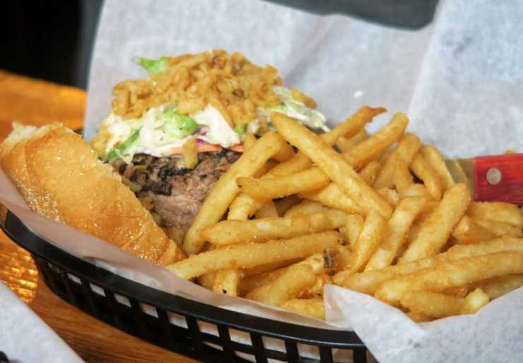 Brisket Sandwich with Fries at Meat