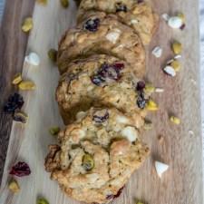 Cranberry Pistachio Oatmeal Cookie