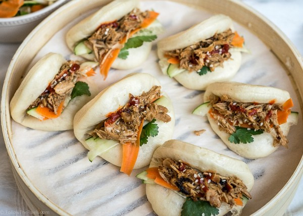 Image result for sticky pork steam bun