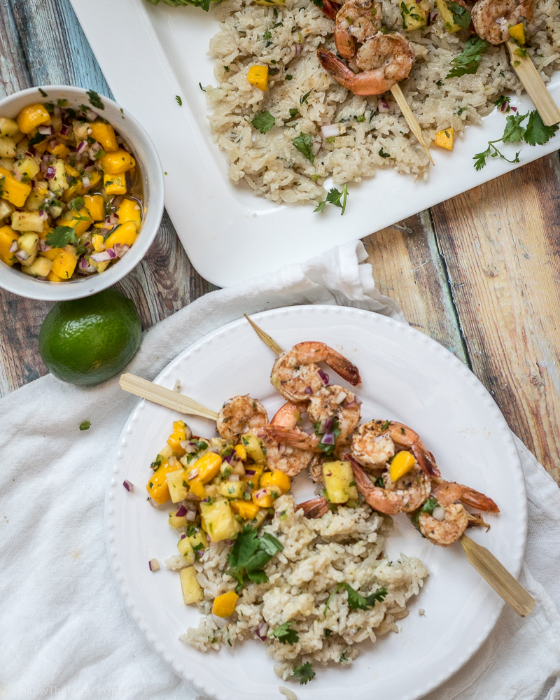 Jamaican Jerk Shrimp and Rice