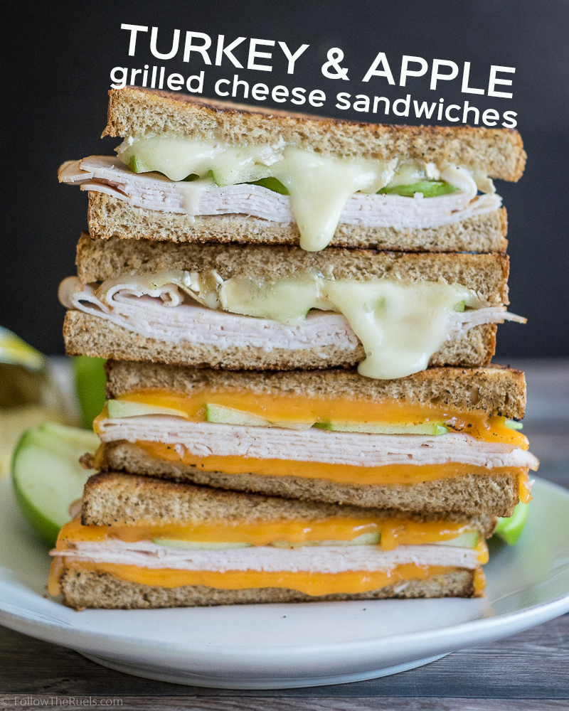 Turkey and Apple Grilled Cheese Sandwiches